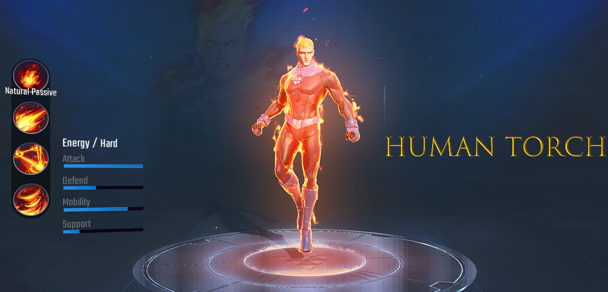 Human Torch Marvel Super War