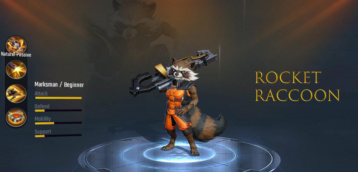 Rocket Raccoon Marvel Super War